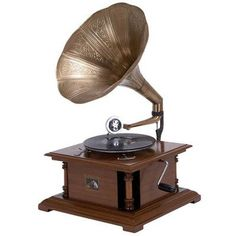 Darby Home Co Antique Replica RCA Victor Phonograph Gramophone