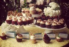 Lars & Sarah | Heart & Arrow Events | Wedding Cupcakes | Yellow & Blue Wedding