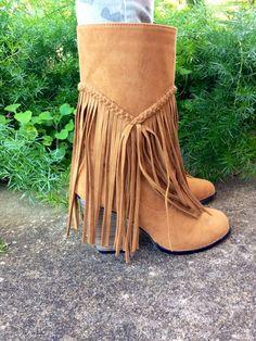 Brown a Fringe Cowboy Boots - DevotedlyChic' Boutique
