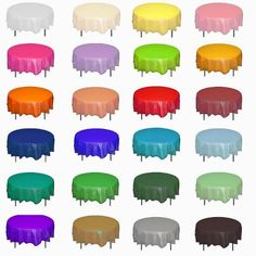 We stock the best and most inclusive collection of round plastic tablecloths. Being highly opaque, these round plastic table covers are suitable for all types of round tables. Round Table Covers, Plastic Table Covers, Plastic Tables, Round Tables, Green Tablecloth, Plastic Tablecloth, Round Tablecloth, White Plastic Table, Pink Plastic