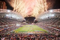 Hong Kong Sevens - Closing fireworks by Mike Pickles on 500px