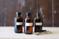 Vanilla extract has to be one of the easiest things to make at home. All you need is liquor and premium quality vanilla beans and you've got homemade vanilla extract that is far superior to the store bought kind. I selected three types of beans: Madagascar for its rich and creamy flavor, Tahitian