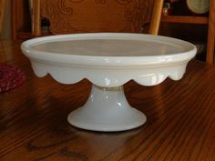 Antique KT&T White Ironstone Pedestal Cake Plate  sold on Ebay for $291