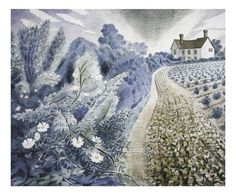 eric ravillious images | Farm House and Field - Eric Ravilious - WikiArt.org - encyclopedia of ...