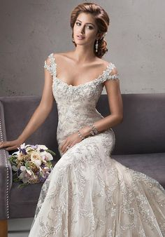 Shop Maggie Sottero Wedding Dresses and find the perfect dress for your big day! Choose from popular bridal styles for any body type like Full length gowns, Lace, Sweetheart and Backless! Designer Wedding Dresses, Bridal Dresses, Beaded Dresses, Wedding Attire, Wedding Gowns, Lace Wedding, Mermaid Wedding, Crystal Wedding, Rustic Wedding