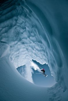 "mysleepykisser-with-feelings-hid: ""Skiing Whistler, British Columbia, Canada Photograph by Eric Berger This image was captured in a snowmobile-access backcountry area just south of Whistler. My friend..."