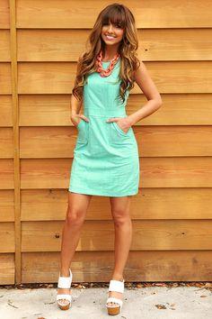 Sweeten Up Dress: Mint #shophopes