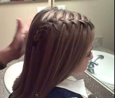 Waterfall French Braid Tutorial