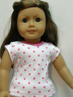 American Girl/18 inch Doll Clothes  pink dot by Unendingtreasures, $8.00