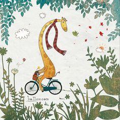Giraffe with Little Bird by Halime Keskin