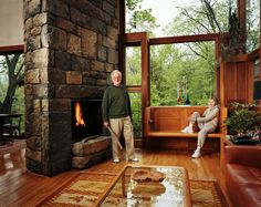 Dr Norman Fisher and his wife Dora, clients of the house designed by Louis Kahn. Photo by Jeff Riedel.