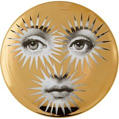 "Fornasetti ""Star Face"" Plate ($305) ❤ liked on Polyvore featuring home, home decor, multi, black and white plates, star home decor, fornasetti, fornasetti plates e black and white home decor"