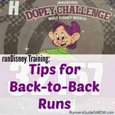 Tips for the back-to-back runs needed while training for a runDisney challenge! http://www.runnersguidetowdw.com/tips-back-to-back-runs/