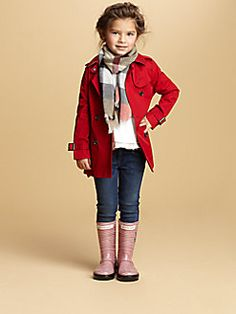 Burberry - Little Girl's Buckingham Double-Breasted Trenchcoat