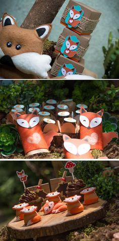 Chá de bebê tema floresta raposta por Danielli Martines