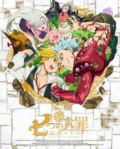 Poster the Seven Deadly Sins Nanatsu No Taizai Anime Manga Print Film Anime Love, All Anime, Manga Anime, Anime Art, Seven Deadly Sins Anime, 7 Deadly Sins, Meliodas Vs, Dvd Box, Meliodas And Elizabeth