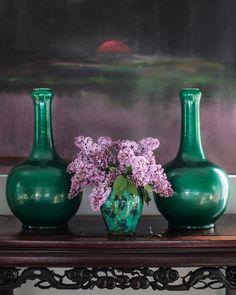 emerald + lilac