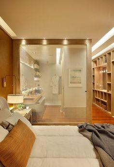 blog de decoração - Arquitrecos: Banheiro aberto para o quarto - Efeito Loft