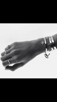 Cartier,Monica Vinadier bracelets.. Casual chic