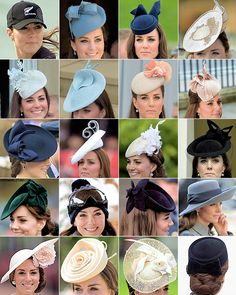 katemiddletons: Duchess of Cambriddge's hats and fascinators  Please support our daily efforts to collect photos  from around the world for you by visiting:  http://TexasTrim.net Thanx, Bob Lewis Vietnam Vet '68 B52s