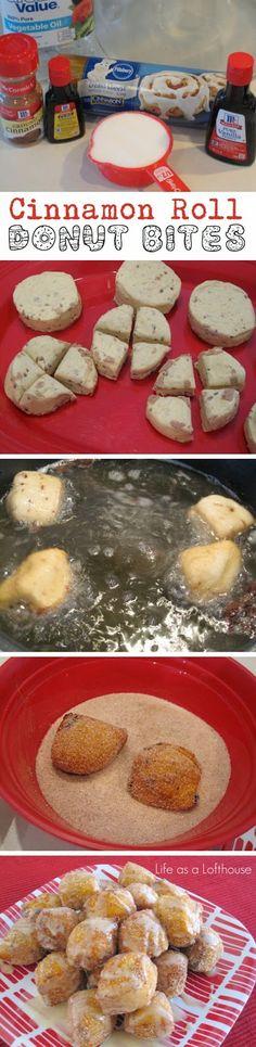 Cinnamon Roll Donut Bites