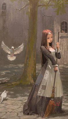 Xuhui. I think it's a Cinderella illustration.