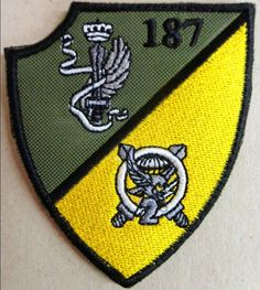 "Toppa/Patch Omerale Cp. ""SPARVIERI"" - ""187° RGT. PARACADUTISTI FOLGORE"""