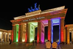 Brandenburger Tor, Festival of Lights in Berlin, Germany. Our capital city is always worth a trip. It has got exciting sigths and you can as well still experience the difference between Eastern and Western Berlin from former times.