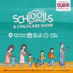 Confused as to which educational institution to child your child to? Tired of attending open day after open day?  Schools & Childcare Show 2017 in partnership with the KHDA is the one stop shop for parents wishing to find the right educational institution for their child. .  The exhibitors are the very best educational providers in Dubai and they are all under one roof ready to answer your questions on a variety of topics such as admissions curriculum pastoral care after school clubs…