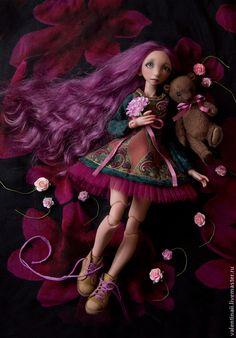OOAK BJD doll Коллекционные куклы ручной работы. Виола. Валентина Игнатьева. Интернет-магазин Ярмарка Мастеров. Бжд
