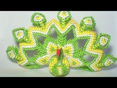 ▶ 3D origami royal peacock tutorial - YouTube