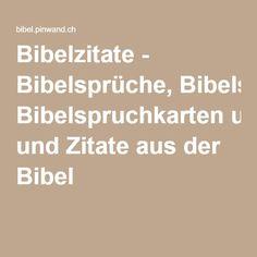 Bibelzitate - Bibelsprüche, Bibelspruchkarten und Zitate aus der Bibel