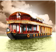 Kerala houseboat. I'll be on one this November! :)