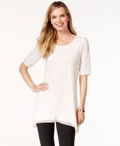 Style & Co. Lace-Trim Tunic Top, Only at Macy's