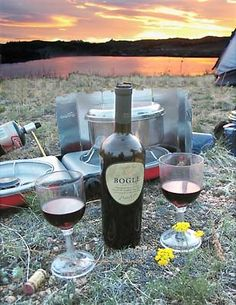 Wine for two, and sunset on a weeknight...in our own backyard...with music, stars, quiet....one of my favorite summer rituals,