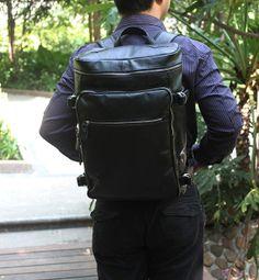 Super Large Genuine Leather Backpack / Travelling Bag / $105