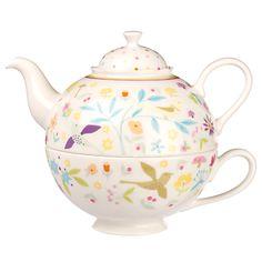 Buy Portmeirion Secret Garden Porcelain Tea For One online at JohnLewis.com - John Lewis