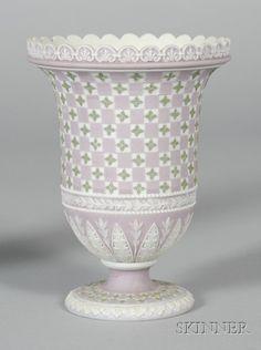 Wedgwood. Tri-color Jasper diceware vase, C18th.