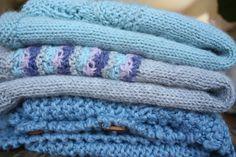 """Pretty colors for my beautiful Julie. From the top down: """"Bløde blade Top"""" knitted in Sandnes Alpaca, pattern from """"Børnestrik på pinde 3,5-4"""", """"Høstvest"""" knitted in Sandnes Alpaca, pattern from pickles.no, """"Enkel vest"""" also from pickles.no"""
