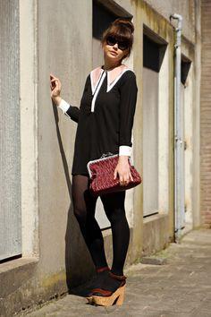collar dress / fashionzen \