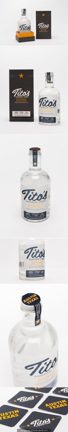 Tito's Handmade Vodka (Student Project), Designer: Becca Ray - See more at: http://www.packagingoftheworld.com/