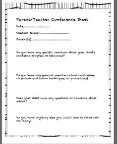 Parent Teacher Conference Letter  How To Make The Most Of Parent