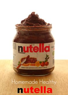 Homemade Healthy Nutella Recipe - a much cheaper and healthier alternative to store-bought Nutella. It's healthy enough for you to have it ever day! | www.pinkrecipebox.com