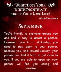 What does your Birth Month say about your Love Life? - Born in September