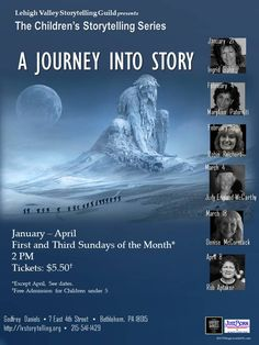 Journey into story on March 18 with master storyteller Denise McCormack.  This family event has something for everyone at every age.  Just bring your imagination and we'll be on our way.  2PM