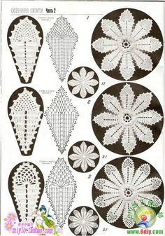 "Diagrammes type ""irish crochet"""