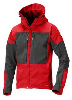 Fjällräven Keb Jacket - A modern, technical outdoor jacket for men. Cotton polyester and stretch panels combine for great durability and freedom of movement. The G-1000 polycotton material is legendary, known for its breathability, wind protection and very long service life. www.ScandinavianOutdoorStore.com