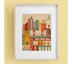 Kid Room >> The City Wall Art That Never Sleeps