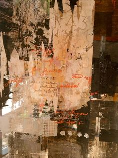norma starzakowna - use of text in art Could be done as fabric printed banners and layered together as a artwork.