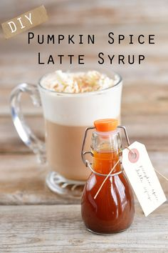 Pumpkin Spice Latte Recipe: DIY Favors  OMG I CAN FINALLY FIND OUT WHAT A PUMPKIN SPICE LATTE TASTES LIKE!!!!!!